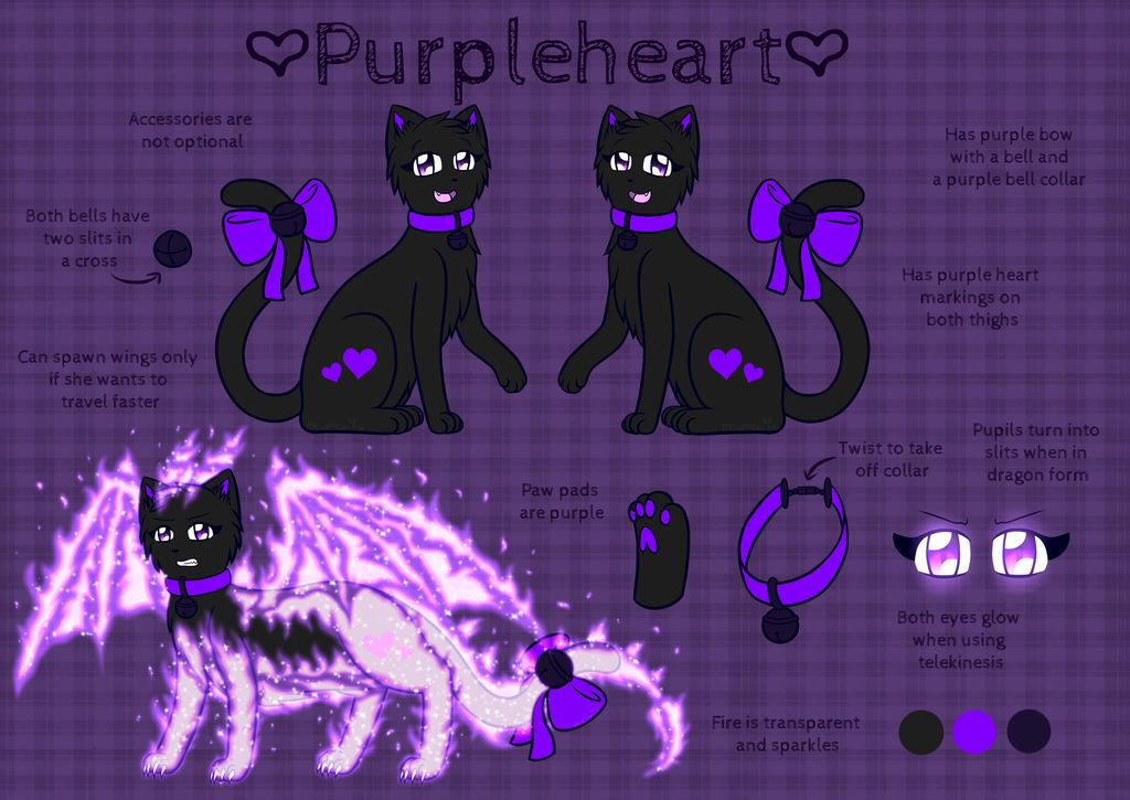 Purpleheart Reference Sheet 2018 by Mewmewcat12