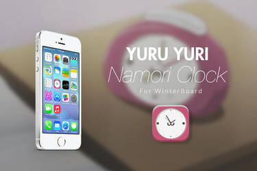 Namori Clock for iOS 7 (Yuru Yuri) by ughrone