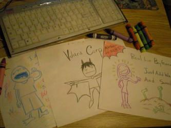 crayon drawings by Bubblegumcrazy