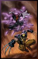 Nightcrawler n Wolverine by psychoheat