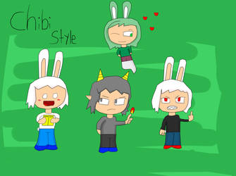 The Boys in Chibi Style by Mick-Blend
