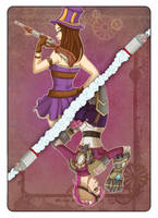 Vi and Caitlyn - Playing Card by Val-eithel