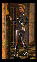 Heather - Blonde in Black Leather by 007Fanatic