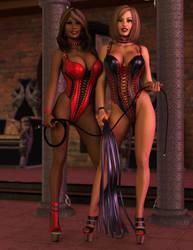 Maya and Monika - Black n Red by 007Fanatic