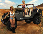 Heather and Charis - Jeep Girls by 007Fanatic