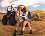 Heather and Charis - Jeep Girls 2 by 007Fanatic