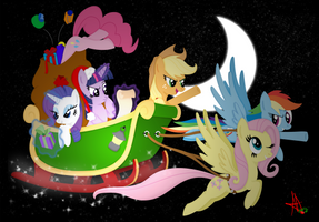 -MLP-  A sledge above Equestria by Ardas91