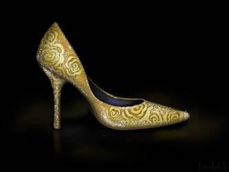 Belle's Shoe - Disney Sole by becsketch