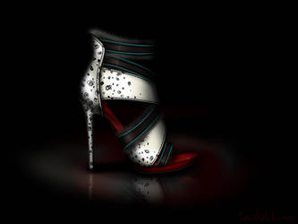 Cruella De Vil Inspired Shoe - Disney Sole by becsketch