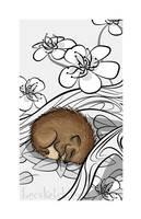Sleepy Forest Critter - Hedgehog by becsketch