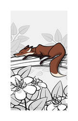 Sleepy Forest Critter - Fox by becsketch
