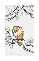Sleepy Forest Critter - Owl by becsketch