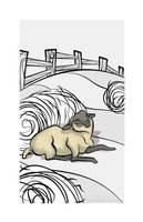 Sleepy Farm Critter - Sheep by becsketch