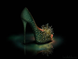 Tinkerbell Inspired Shoe - Disney Sole by becsketch
