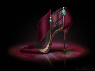 Lady Tremaine Inspired Shoe - Disney Sole by becsketch