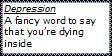 Depression... A Fancy Word by newnoakua