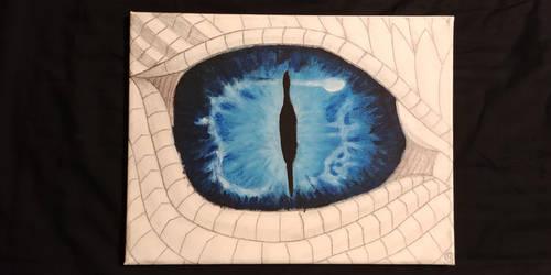 Blue Dragon Eye by Krazywolf007