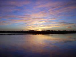 Blue Sunset by Bluecatdemoness