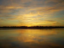 Gold Sunset by Bluecatdemoness