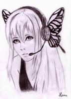 Megurine luka portrait by lilb0nez