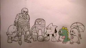 Obscure video characters( Black and White. Mostly) by ChrisMCampbell
