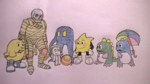 Obscure video characters( coloured). by ChrisMCampbell