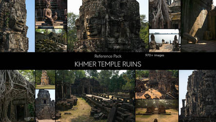 Khmer Temple Ruins - Reference Pack by SkoldArt
