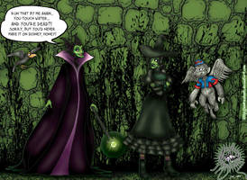 Maleficent VERSUS Elphaba by andreshanti