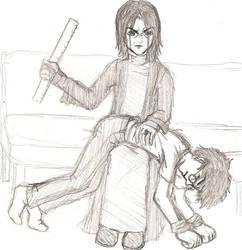 Harry Potter_Spanking by miikkuli