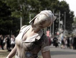 Bubblehead Nurse Closeup by EileenGalvin