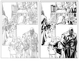 X Men Inks Comparison by TomParrish