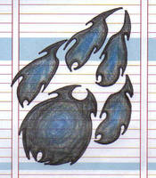 Tribal paw print by Caro-Kitsu