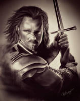 The Lord of the Rings - Aragorn Son of Arathorn by geekyglassesartist
