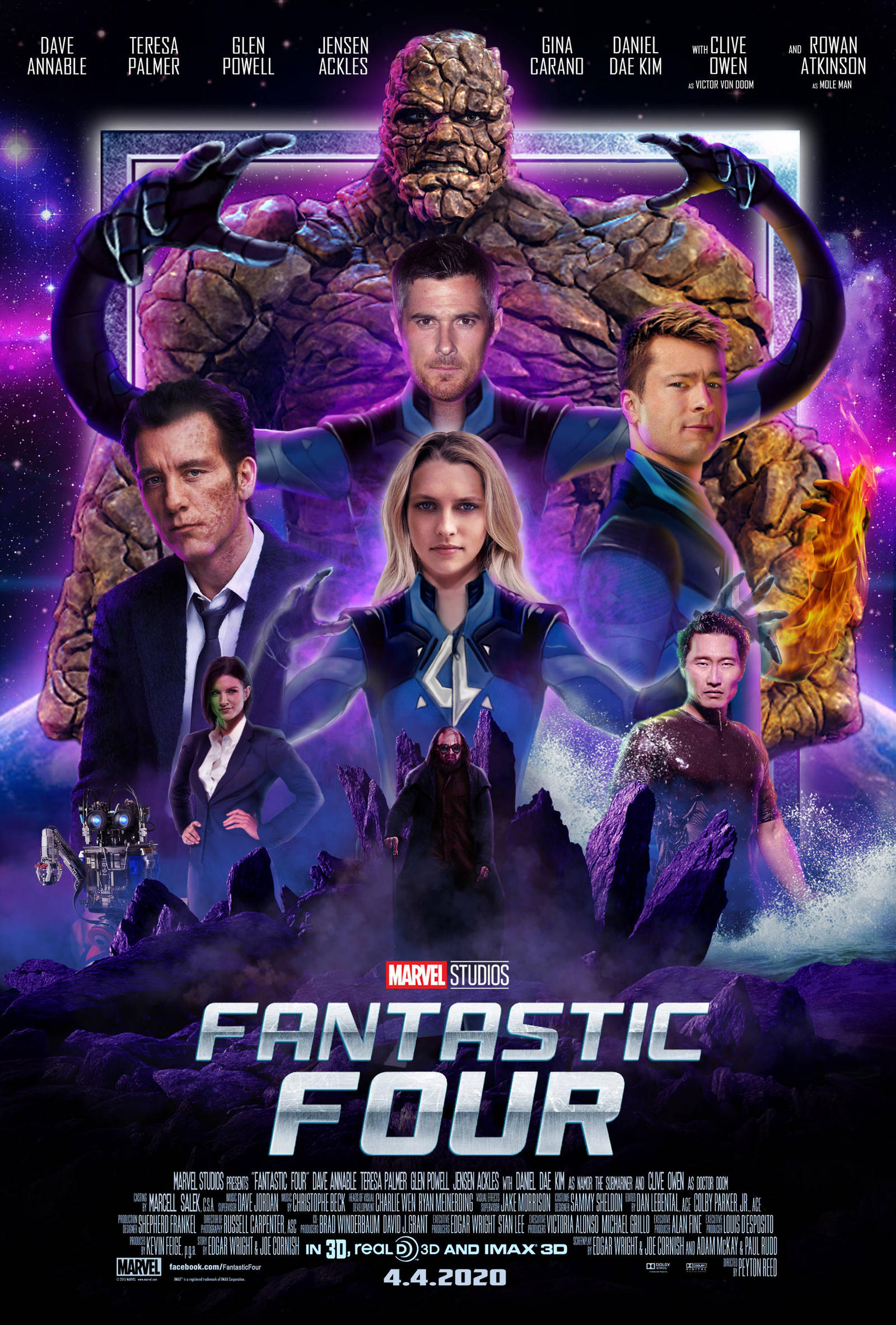 mcu fantastic four movie poster 3 by marcellsalek26 on