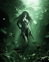 Jungle Huntress Siren by PlaviDemon