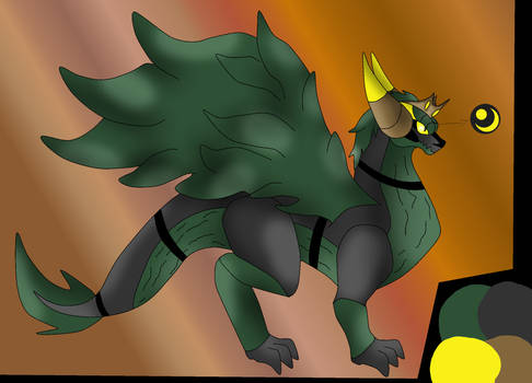 King chomp the Oak dragon by pd123sonic