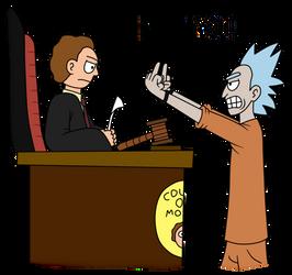 Defendant Rick and Judge Morty by Nicksplosivez