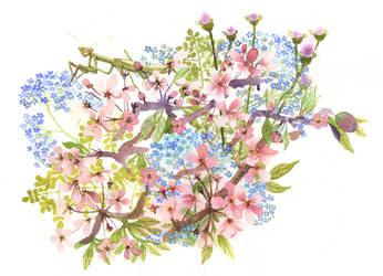 Mantis Bouquet by bluealaris
