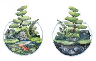 Zen Terrarium by bluealaris