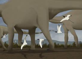 Diplodocus Parade by Julio-Lacerda