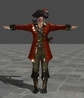 WIP: Pirate Leon by zeushk
