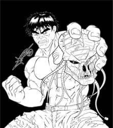 Hulk vs Predator by Lennardo