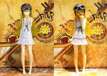Shinobu Oshino Garage Kit Figure by TEIJI by redjuice999