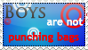 Boys are not Punching Bags -Stamp- by Inemiset