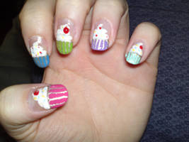 1. Cupcake Nails by megs2606