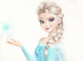 Elsa Frozen Drawing by KirstenLouiseArt