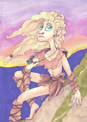 Wildling and sunset by Tohmo
