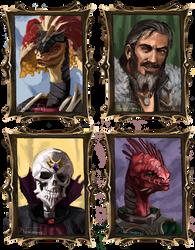 DOS2 party portraits by PlaviGmaz