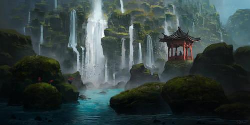 Island of a thousand waterfalls by PiotrDura