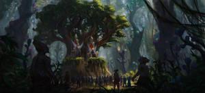 Forest throne by PiotrDura